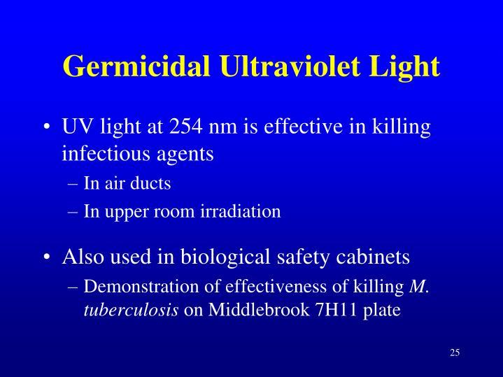 Germicidal Ultraviolet Light