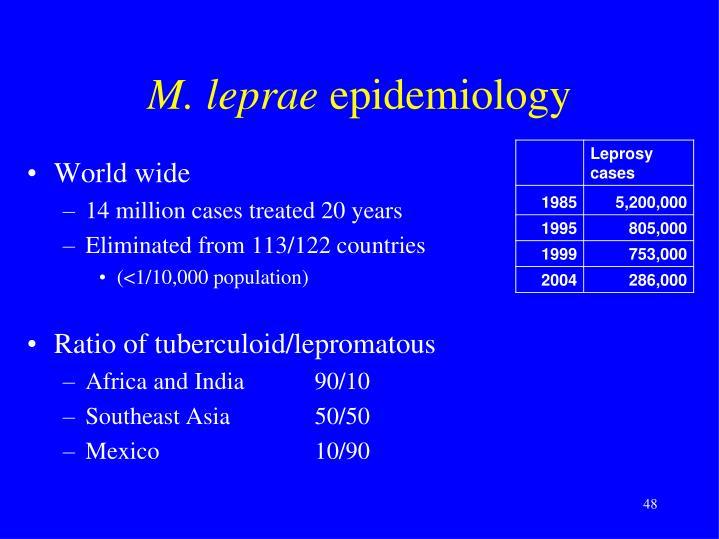 M. leprae