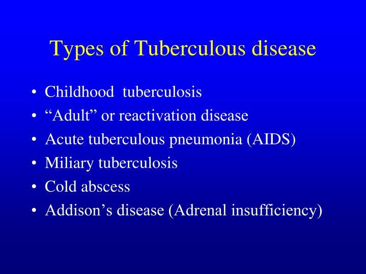 Types of Tuberculous disease
