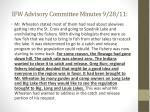 ifw advisory committee minutes 9 28 111