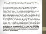 ifw advisory committee minutes 9 28 112