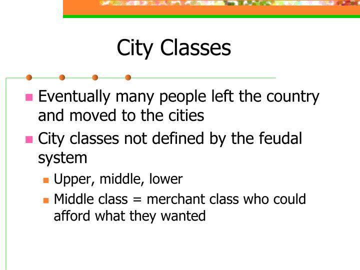 City Classes