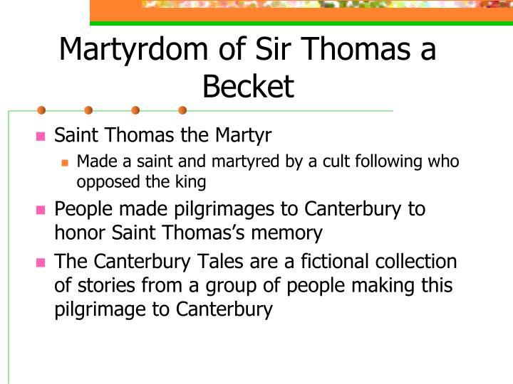 Martyrdom of Sir Thomas a Becket