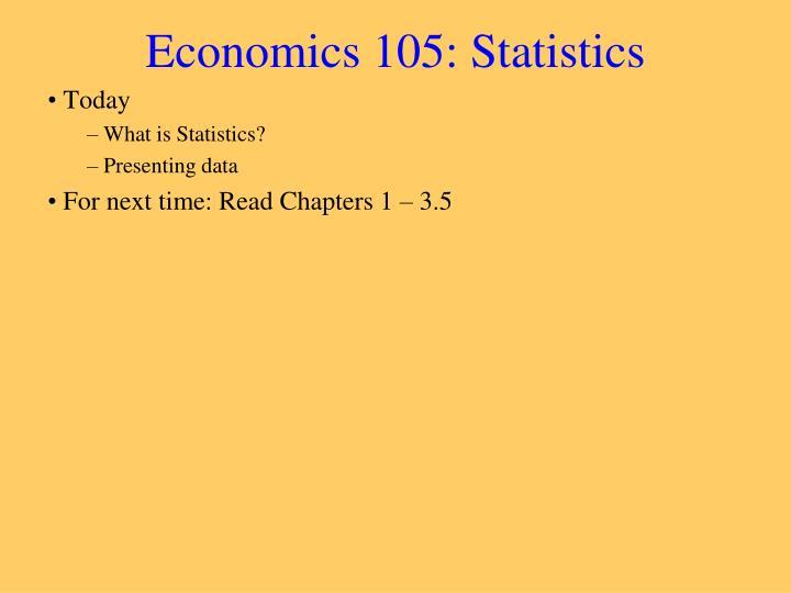Economics 105 statistics1