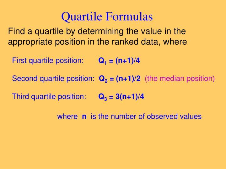 Quartile Formulas