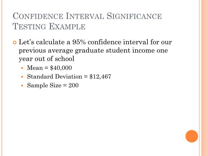 Confidence Interval Significance Testing Example