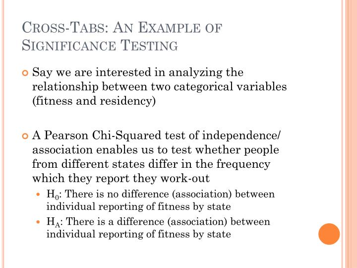 Cross-Tabs: An Example of Significance Testing