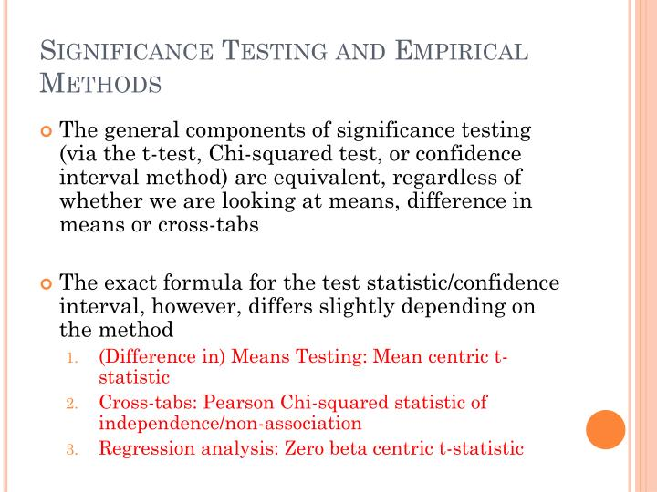 Significance Testing and Empirical Methods