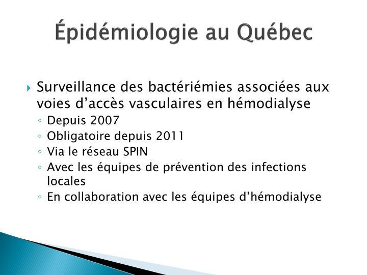 Épidémiologie au Québec