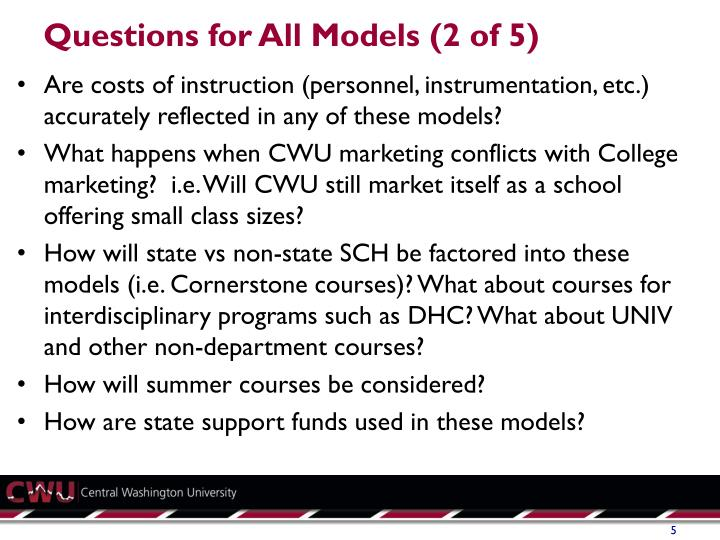 Questions for All Models (2 of 5)