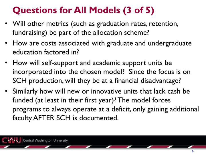 Questions for All Models (3 of 5)