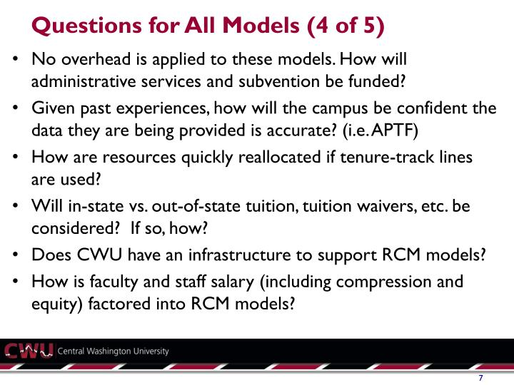 Questions for All Models (4 of 5)