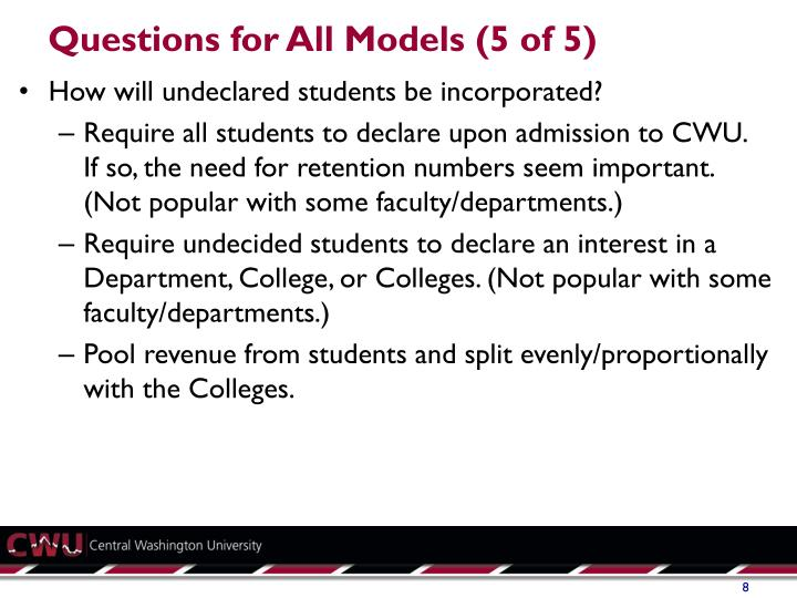 Questions for All Models (5 of 5)
