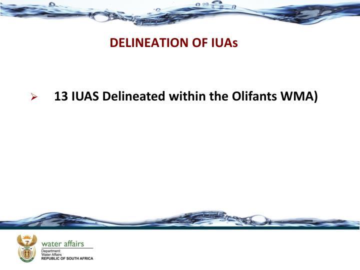 DELINEATION OF IUAs