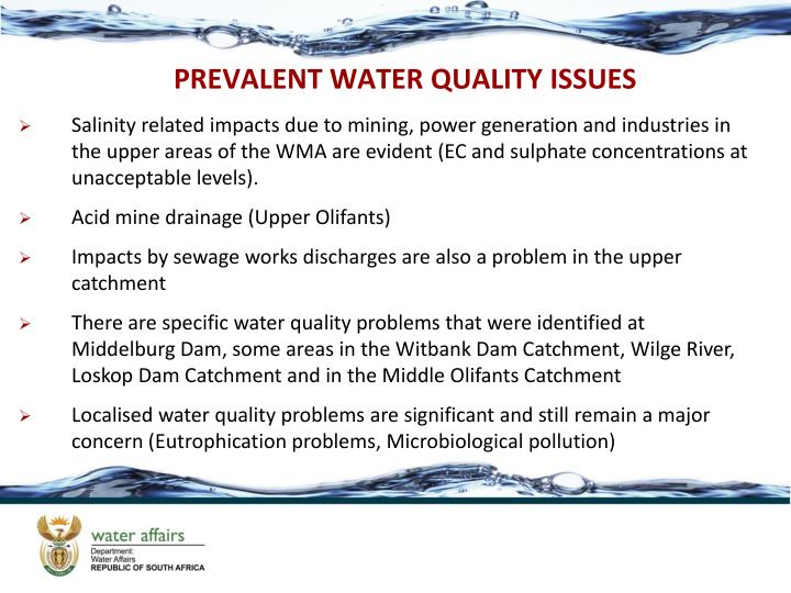 PREVALENT WATER QUALITY ISSUES