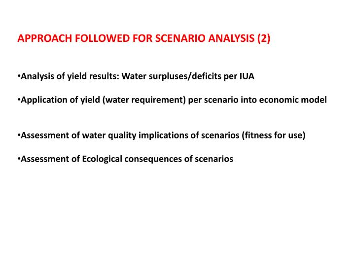 APPROACH FOLLOWED FOR SCENARIO ANALYSIS (2)