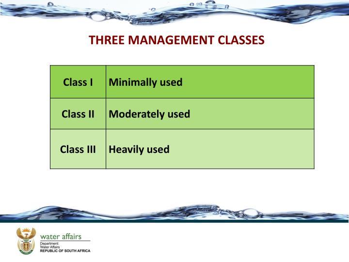 THREE MANAGEMENT CLASSES