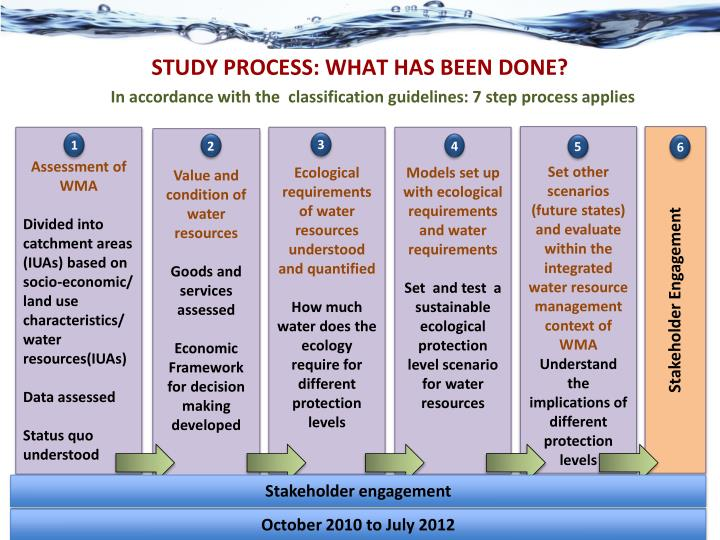 STUDY PROCESS: WHAT HAS BEEN DONE?