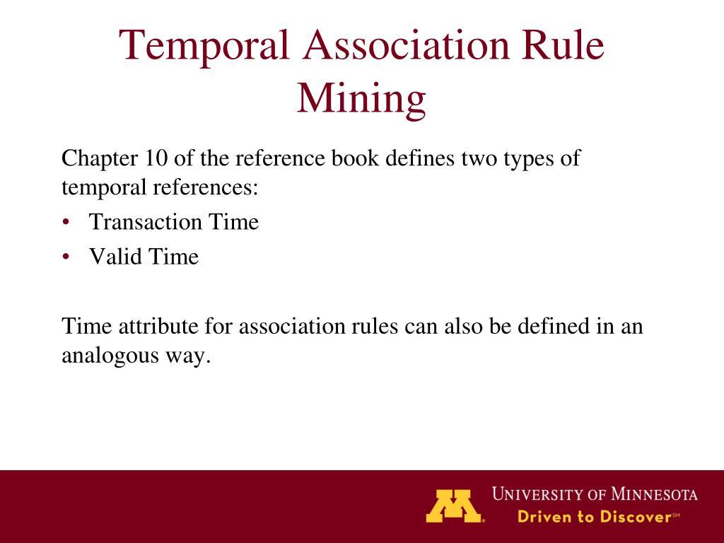 temporal association rule mining