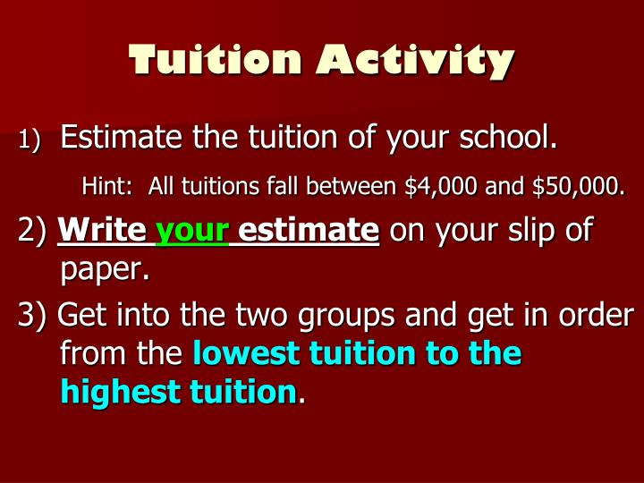 Tuition Activity