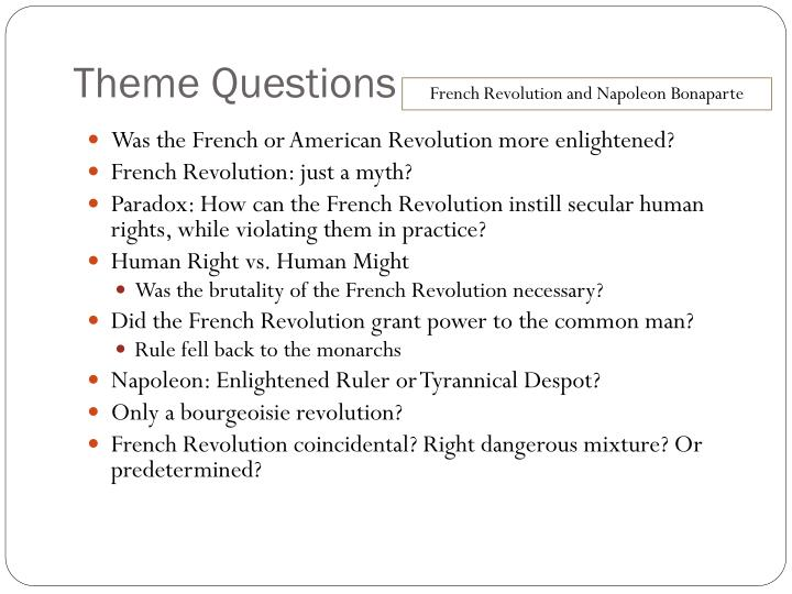 Theme Questions