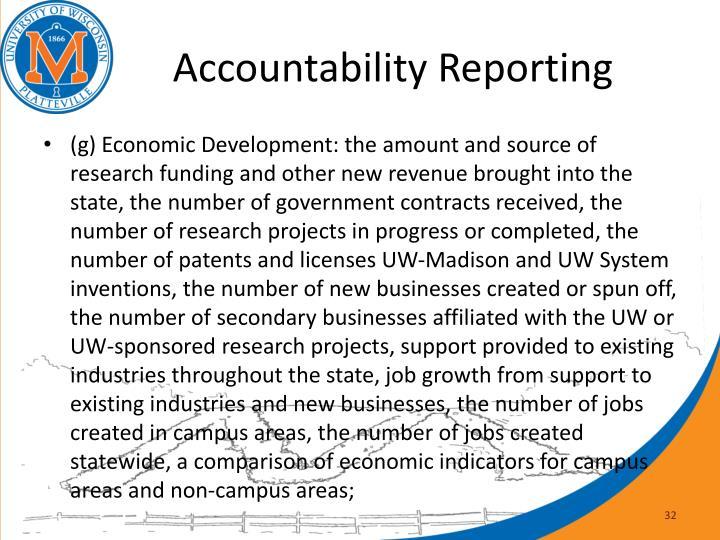 Accountability Reporting