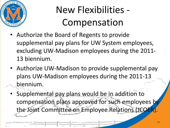 New Flexibilities - Compensation