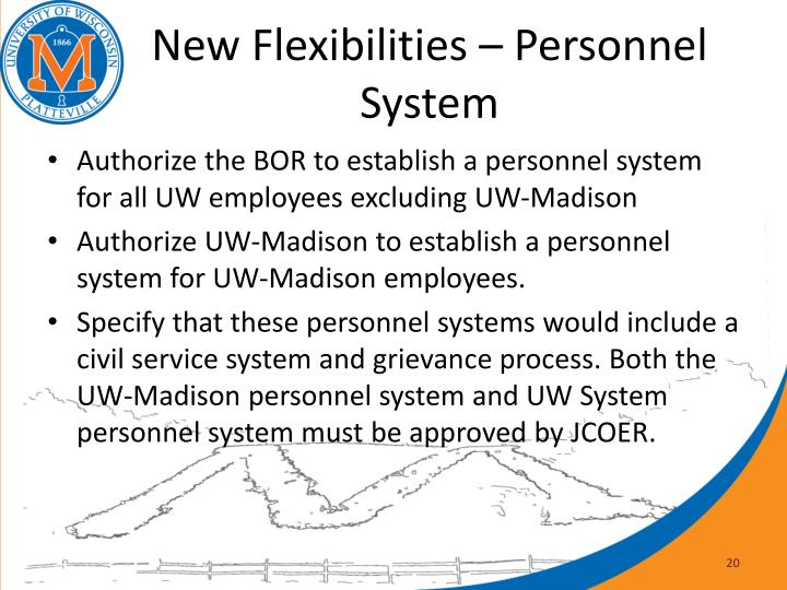New Flexibilities – Personnel System