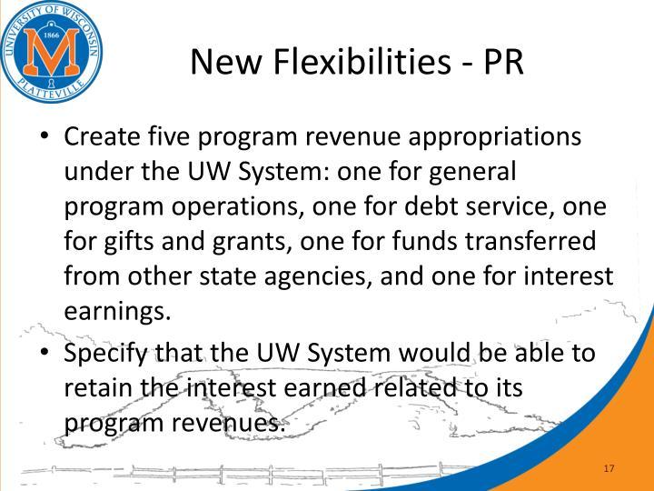 New Flexibilities - PR