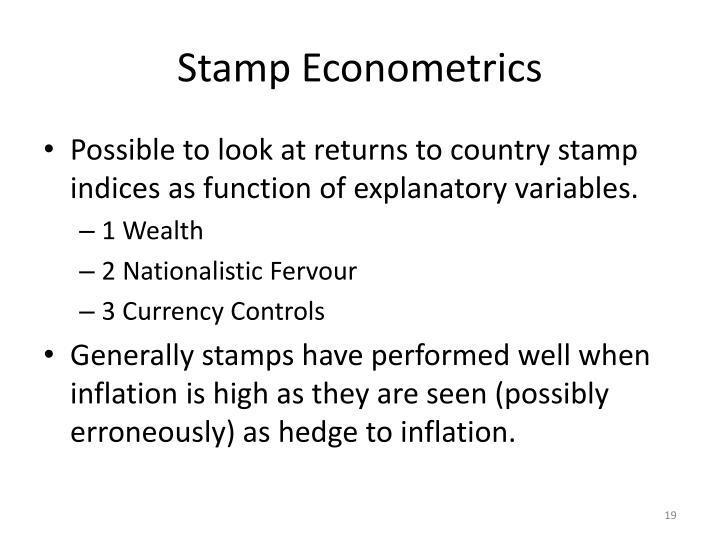 Stamp Econometrics