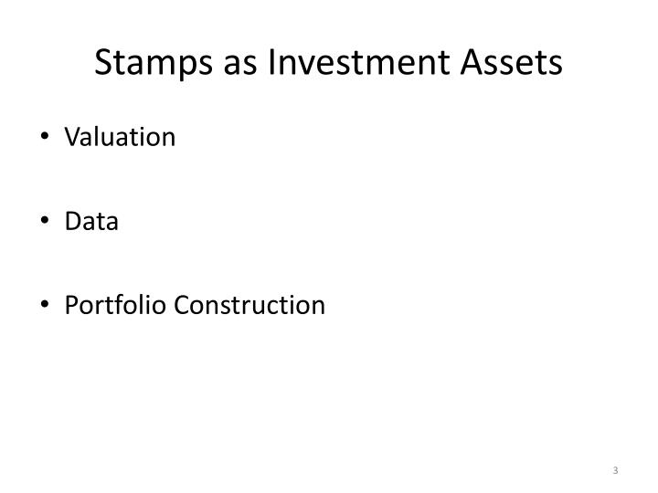 Stamps as investment assets