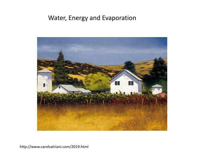 Water, Energy