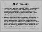 abbe forecast s