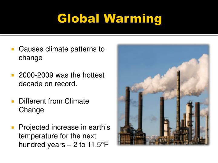 PPT Global Warming and Climate Change PowerPoint