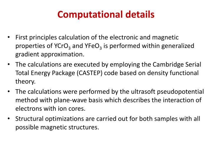 Computational details