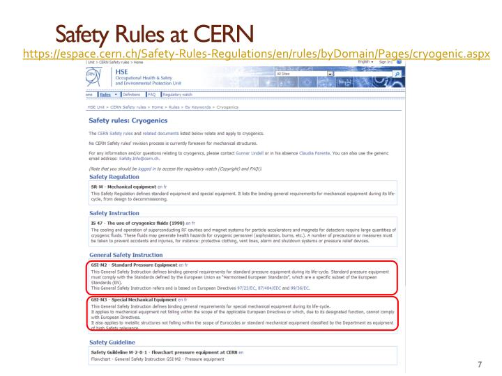 Safety Rules at CERN