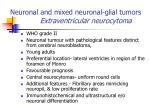 neuronal and mixed neuronal glial tumors extraventricular neurocytoma
