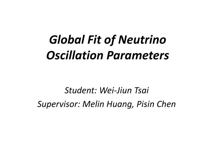 Global fit of neutrino oscillation parameters