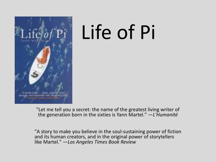 an analysis of the moral beliefs in life of pi by yann martel