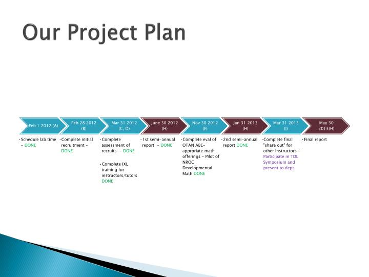 Our project plan