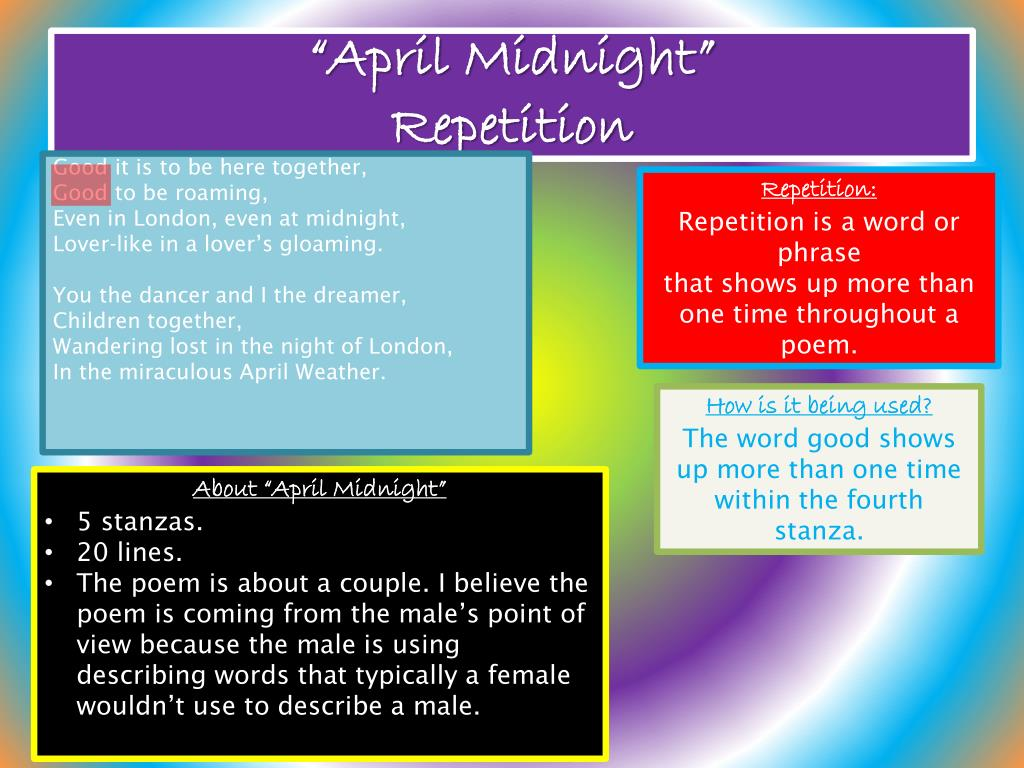 "PPT - Poetry Project ♥ ""April Midnight"" PowerPoint"