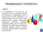 probabilidad y estad stica