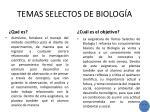 temas selectos de biolog a