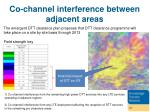 co channel interference between adjacent areas