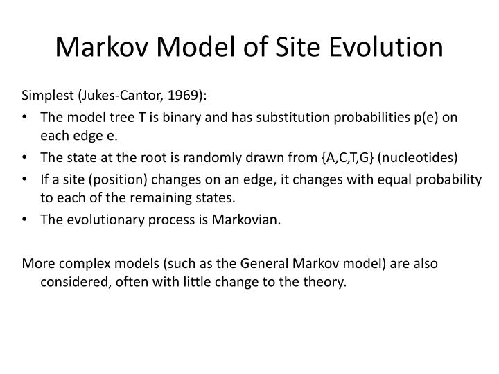 Markov Model of Site Evolution