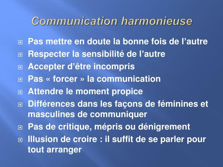 Communication harmonieuse