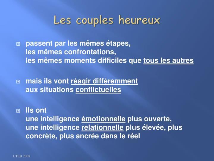 Les couples heureux