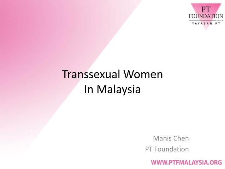 transsexual women in malaysia n.