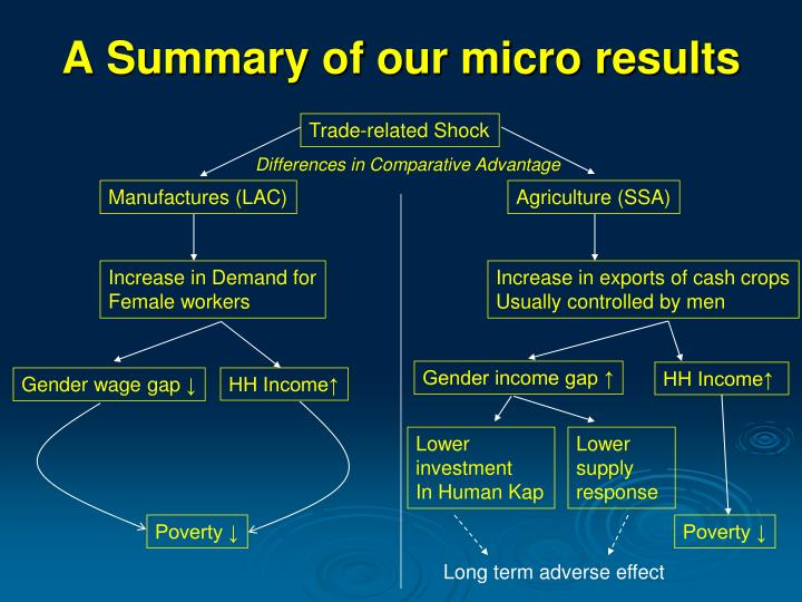 A Summary of our micro results