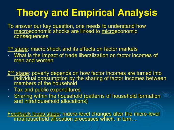 Theory and empirical analysis